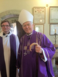 Bishop Nick and Nils at St.Peter's - 13 March 2016