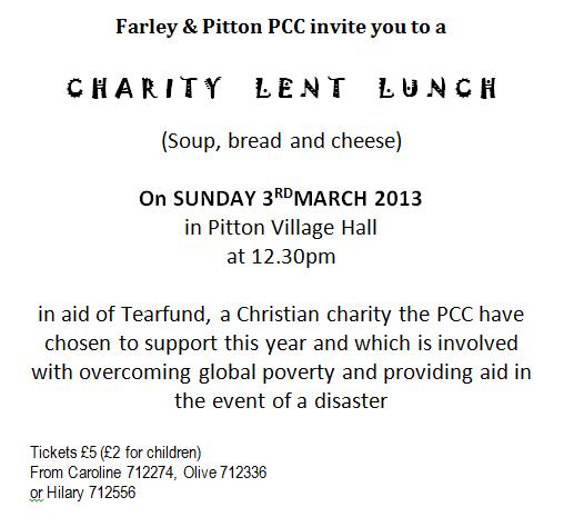 Lent Lunch 2013