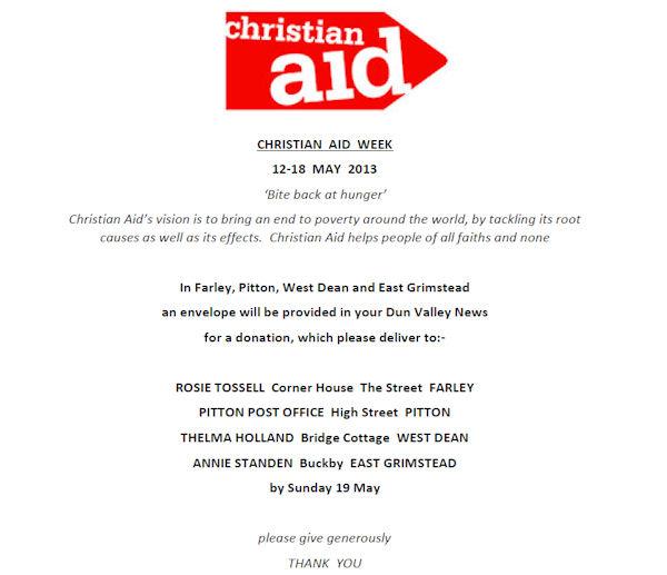Christian Aid Week 600