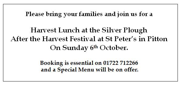 Harvest Festival lunch 2013