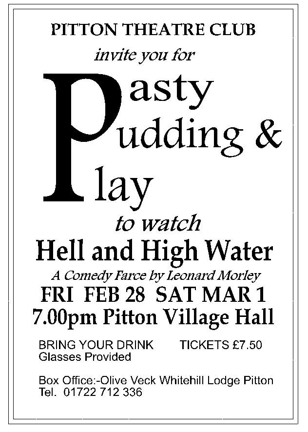 Pasty, Pudding & Play