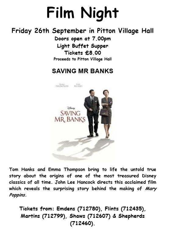 Film Night saving mr banks