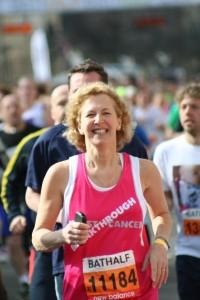 Sara running large