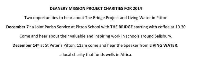 Mission projects 2015