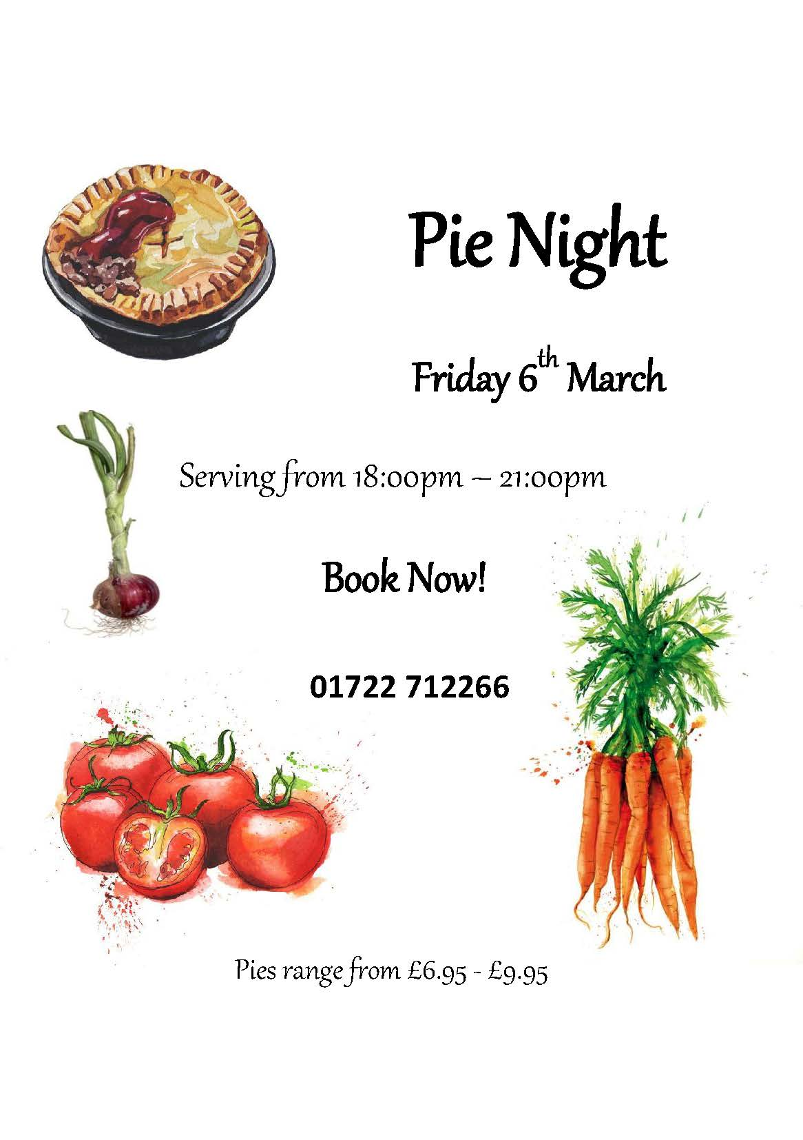Pie Night 6th March