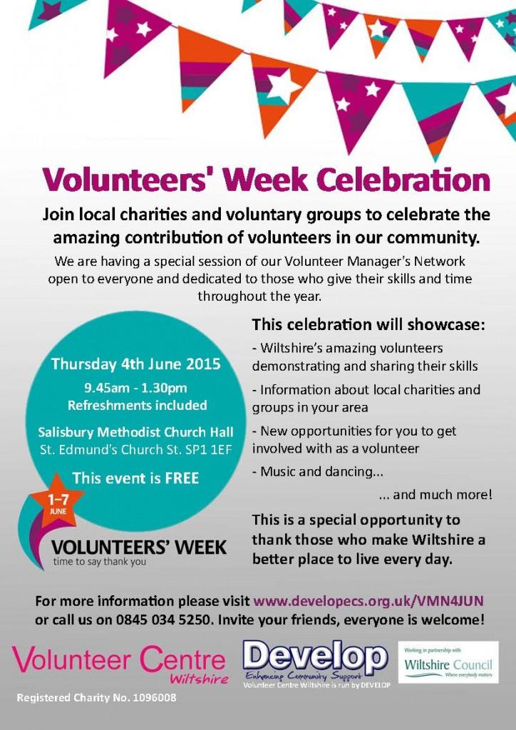 Volunteers' Week Celebration 4JUN Flyer
