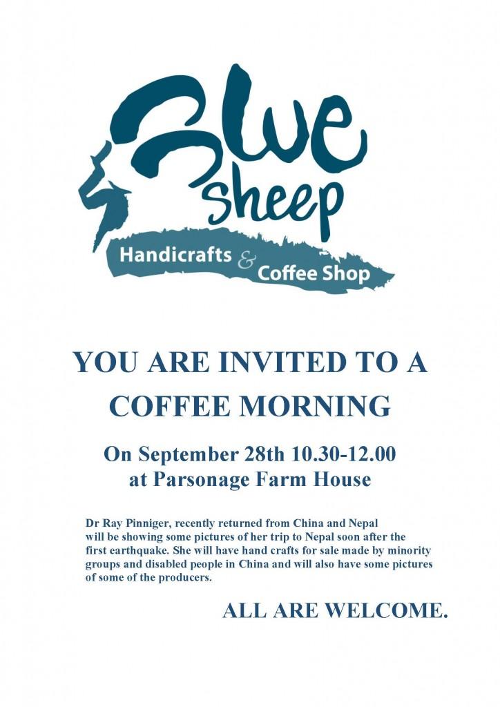 Coffee Morning Blue Sheep 2015