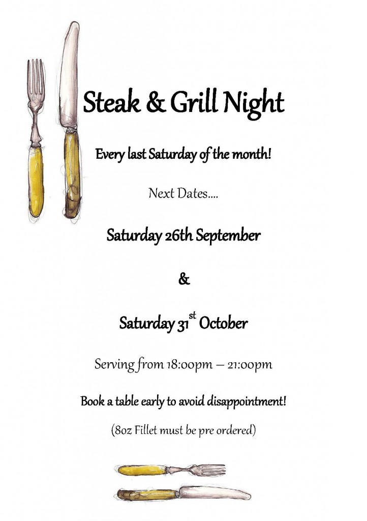 Steak & Grill Night Sept Oct 2015 A5