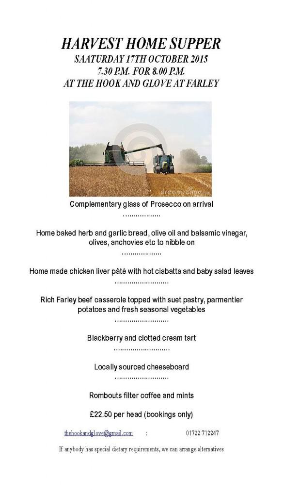 Harvest Home Supper 17th October 2015