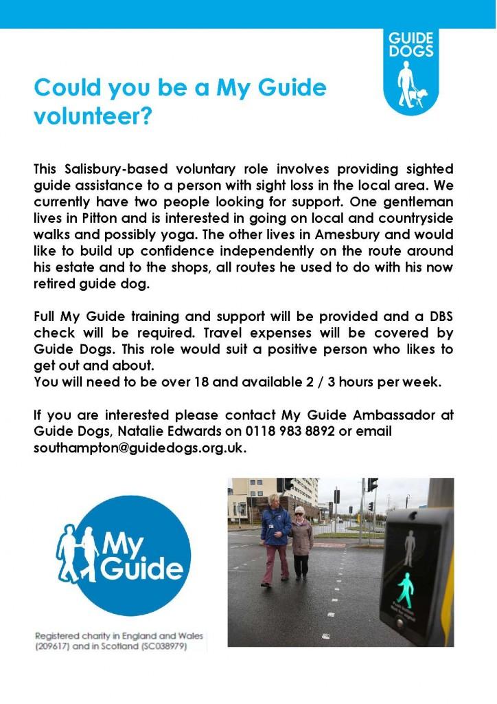 My Guide Salisbury poster