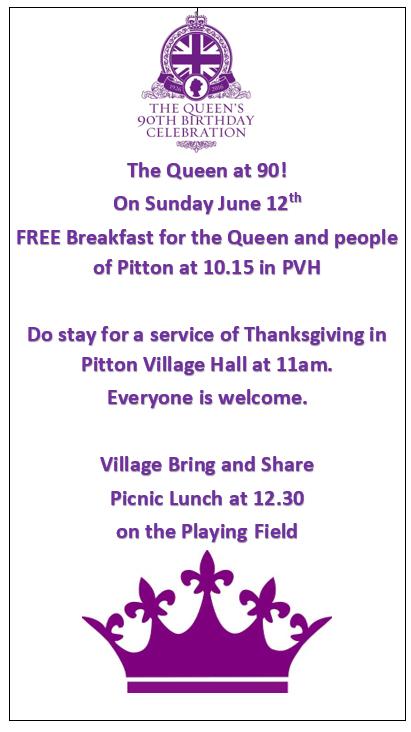 Queen at 90 breakfast